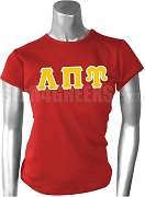 Lambda Pi Upsilon Greek Letter Screen Printed T-Shirt, Red
