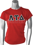 Lambda Tau Delta Greek Letter Screen Printed T-Shirt, Red