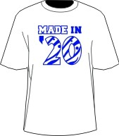 MADE IN... Screen Printed T-Shirt, White/Royal (Zeta)