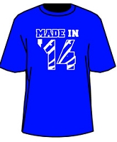 MADE IN... Screen Printed Shirt - Royal/White (Sigma)