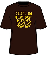 MADE IN...  Screen Printed T-Shirt - Brown/Gold (Iota)