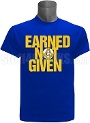 Mason Earned Not Given Screen Printed T-Shirt, Royal Blue