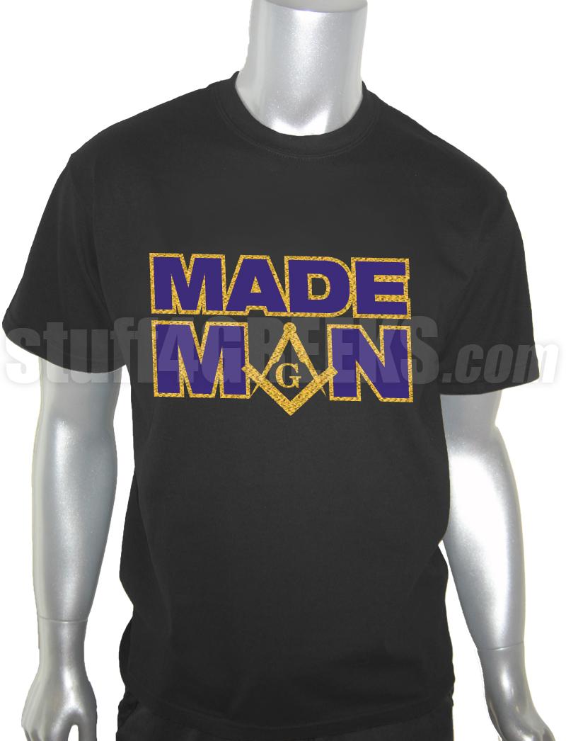 Mason Made Man Screen Printed T Shirt Black