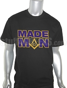 Mason MADE MAN Screen Printed T-Shirt, Black