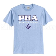 PHA Screen Printed T-Shirt, Light Blue