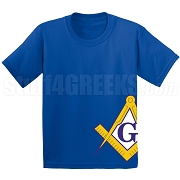 Square & Compasses Screen Printed T-Shirt, Royal