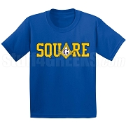 Square Screen Printed T-Shirt, Navy Blue