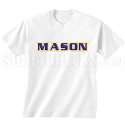 MASON Triple-Layered Letters Screen Printed T-Shirt, White