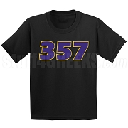 357 Screen Printed T-Shirt, Black