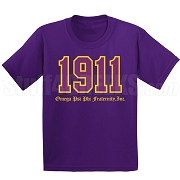 1911 Omega Phi Psi Screen Printed T-Shirt, Purple