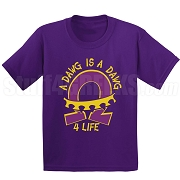 Dawg 4 Life Screen Printed T-Shirt, Purple