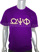 Omega Psi Phi Bones Screen Printed T-Shirt, Purple