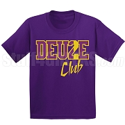 Deuce Club Screen Printed T-Shirt, Purple/Old Gold