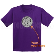 Dime Club Screen Printed T-Shirt, Purple