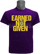 Omega Psi Phi Earned Not Given Screen Printed T-Shirt, Purple