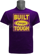 Built Tough Omega Psi Phi Screen Printed T-Shirt, Purple