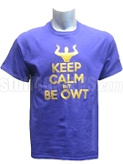 Omega Psi Phi Keep Calm Screen Printed T-Shirt, Purple