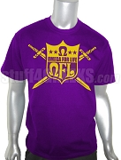 QFL (Omega For Life) Screen Printed T-Shirt, Purple
