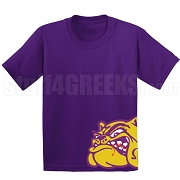 Omega Psi Phi Mascot Screen Printed T-Shirt, Purple