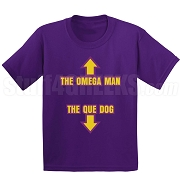 Omega Man, Que Dog Screen Printed T-Shirt, Purple