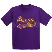 Omega Till I Die Screen Printed T-Shirt, Purple