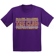 Omega Psi Phi Tre Club (Gen1) Screen Printed T-Shirt, Purple