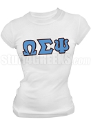 Omega Sigma Psi Greek Letter Screen Printed T-Shirt, White