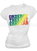 Order of the Eastern Star DTG Printed T-Shirt with Block Wording, White