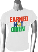 Order of the Eastern Star Earned Not Given Screen Printed T-Shirt, White