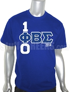 Phi Beta Sigma 100 Years Screen Printed T-Shirt, Royal Blue