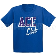 Ace Club Screen Printed T-Shirt, Royal/White