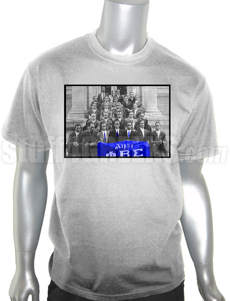 bf3a76d3db47 Phi Beta Sigma Vintage Alpha Chapter Photo DTG Printed T-Shirt