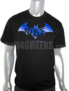 Phi Beta Sigma Batman Screen Printed T-Shirt with Greek Letters, Black