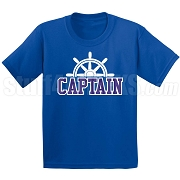 Captain Screen Printed T-Shirt, Royal/White