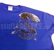 Phi Beta Sigma Metallic Foil Crest Screen Printed T-Shirt, Royal Blue Shirt with Silver Crest