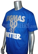 Phi Beta Sigma Do It Screen Printed T-Shirt, Royal Blue