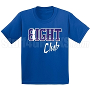 8/Eight Club Screen Printed T-Shirt, Royal/White