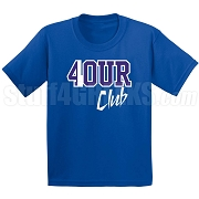 4/Four Club Screen Printed T-Shirt, Royal/White