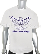 Phi Beta Sigma Wings Screen Printed T-Shirt, White