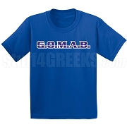 G.O.M.A.B. Screen Printed T-Shirt, Royal