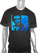 Phi Beta Sigma Metallic Foil T-Shirt with Huey P. Newton, Black