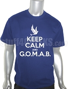 Phi Beta Sigma Keep Calm Screen Printed T-Shirt, Royal Blue