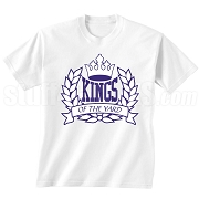 Kings of the Yard Screen Printed T-Shirt, White/Royal