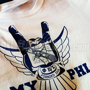Phi Beta Sigma My Phi Screen Printed T-Shirt with Crest Hand and Dove Wings