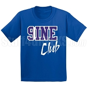 9/Nine Club Screen Printed T-Shirt, Royal/White