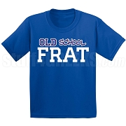 Old School Screen Printed T-Shirt, Royal/White