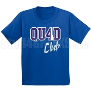4/Quad Club Screen Printed T-Shirt, Royal/White