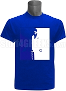 Phi Beta Sigma Scarface Screen Printed T-Shirt, Royal Blue