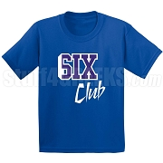6/Six Club Screen Printed T-Shirt, Royal/White
