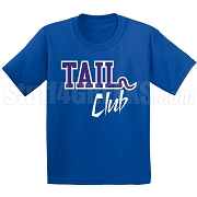 Tail Club Screen Printed T-Shirt, Royal/White